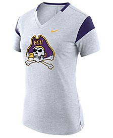 Women's East Carolina Pirates Fan V Top T-Shirt
