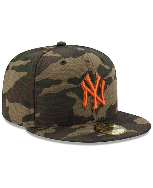 New Era New York Yankees Camo On Canvas 59FIFTY Cap - Sports Fan ... 65442327f76