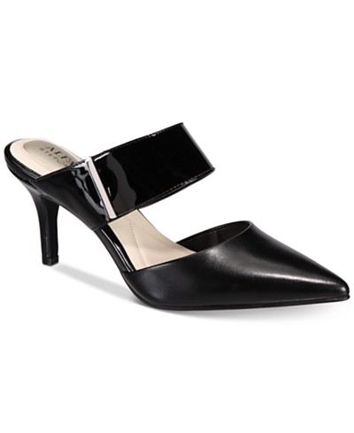 Alfani Step N' Flex Jalessia Pointed-Toe Mules, Created for Macy's
