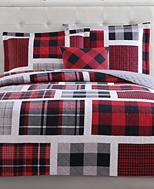 Reversible 4-Pc. Buffalo Plaid Full Quilt Set