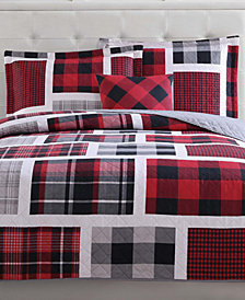 Laura Hart Kids Reversible 3-Pc. Buffalo Plaid Twin Quilt Set