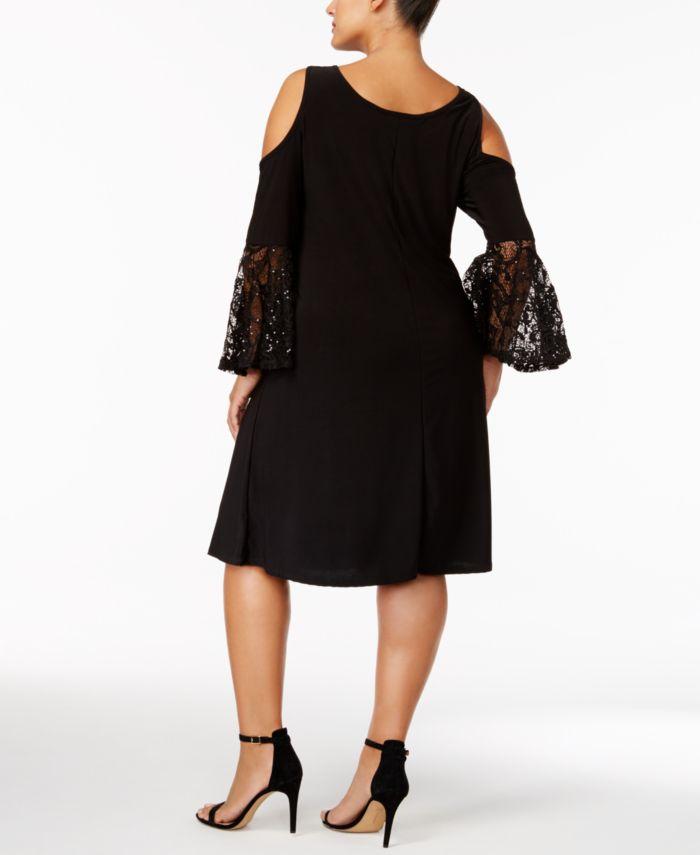 R & M Richards Plus Size Cold-Shoulder Dress & Reviews - Dresses - Women - Macy's