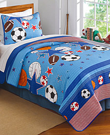 Laura Hart Kids Sports & Stars Reversible 2-Pc. Twin Quilt Set