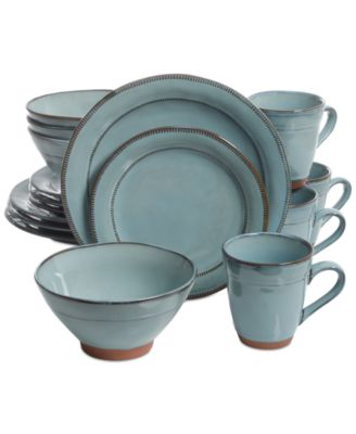 Laurie Gates Valencia Teal 16-Pc. Dinnerware Set - Dinnerware - Dining u0026 Entertaining - Macyu0027s  sc 1 st  Macyu0027s & Laurie Gates Valencia Teal 16-Pc. Dinnerware Set - Dinnerware ...