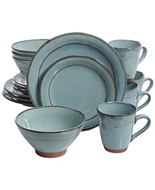 Valencia Teal 16-Pc. Dinnerware Set
