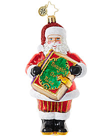 Christopher Radko Christmas Checklist Ornament