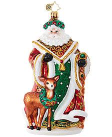 Christopher Radko My Deer Santa Ornament