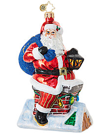 Christopher Radko Chimney Climber Santa Ornament