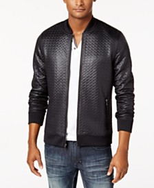 I.N.C. Men's Basket-Weave Bomber Jacket, Created for Macy's