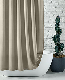 "CLOSEOUT! Hotel Collection 72"" x 84"" Extra Long Waffle-Knit Shower Curtain, Created for Macy's"