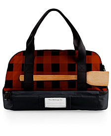 Picnic Time Red Plaid Potluck Casserole Tote