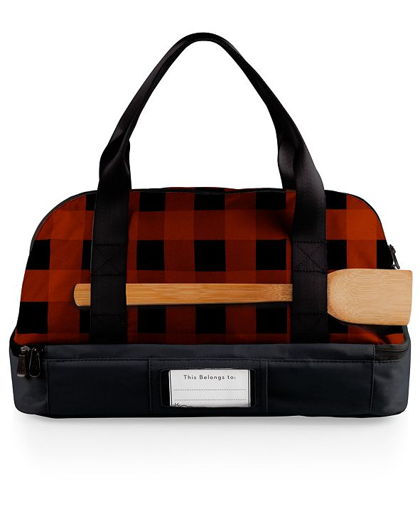 Picnic Time Oniva® by Red Plaid Potluck Casserole Tote