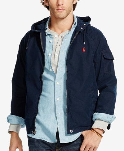 Polo Ralph Lauren Men's Hooded Windbreaker - Coats & Jackets - Men ...