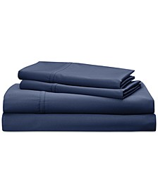 Spencer Cotton Sateen Count 4-Pc. Solid Queen Sheet Set