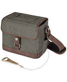 Picnic Time Beer Caddy Khaki Green & Brown Cooler Tote with Opener