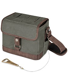 Legacy® by Picnic Time Beer Caddy Khaki Green & Brown Cooler Tote with Opener