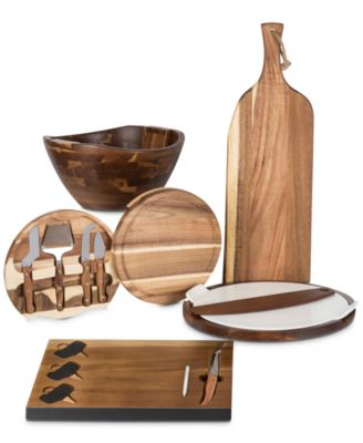 Toscana® by Swiss Rubber Wood Cheese Board & Tools Set