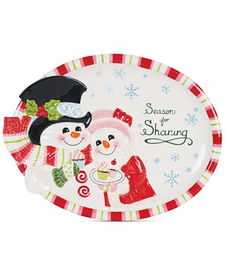 Fitz and Floyd Flurry Folk Cookie Platter