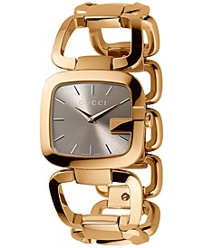 Women's Swiss G-Gucci Gold-Tone PVD Stainless Steel Bracelet Watch 24x22mm YA125511
