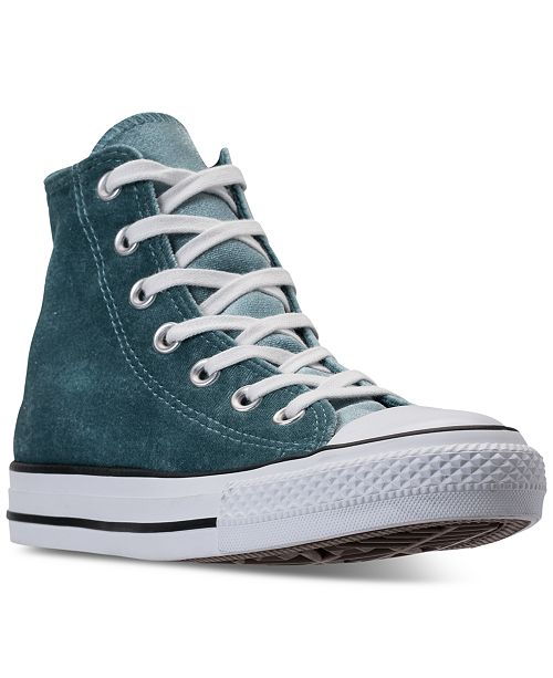 012831ced603 ... Converse Women s Chuck Taylor Hi Velvet Casual Sneakers from Finish ...