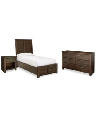 Emory Storage Platform Bedroom Set, 3-Piece Set (Twin Bed, Nightstand and Dresser), Created for Macy's