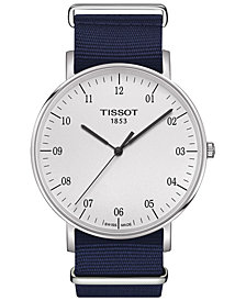 Tissot Men's Swiss Everytime Blue Synthetic NATO Fabric Strap Watch 42mm