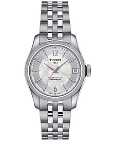 Tissot Women's Swiss Automatic Ballade Stainless Steel Bracelet Watch 32mm