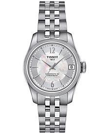 Tissot Women's Swiss Automatic Ballade Stainless Steel Bracelet Watch 32mm