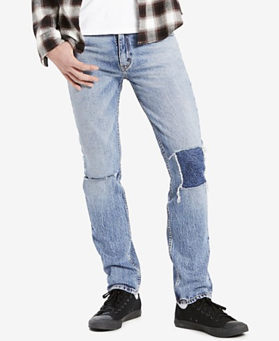 Levi's® Men's 511™ Slim-Fit Ripped and Repaired Jeans
