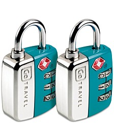 2-Pk. Twin Travel Sentry Locks
