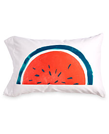 Scribble Watermelon-Print Standard Pillowcase