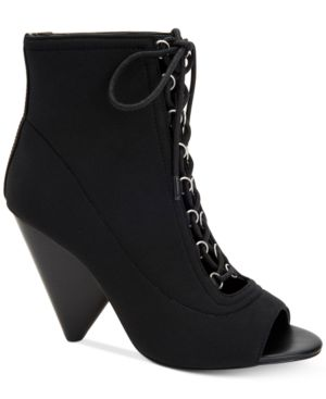 BCBGeneration Alicia Lace-Up Booties Women