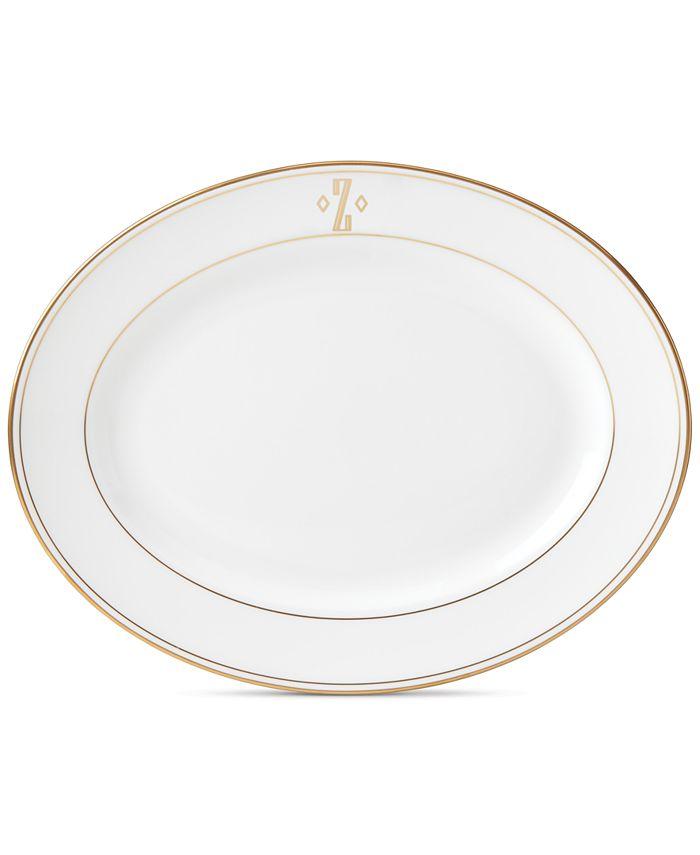 Lenox - Federal Gold Monogram Block Oval Platter