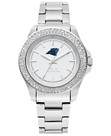 Jack Mason Women's Carolina Panthers Glitz Sport Bracelet Watch
