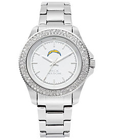 Jack Mason Women's Los Angeles Chargers Glitz Sport Bracelet Watch