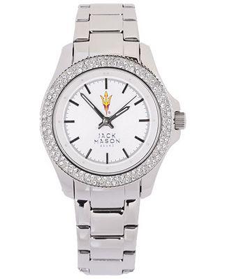 Jack Mason Women's Arizona State Sun Devils Glitz Sport Bracelet Watch