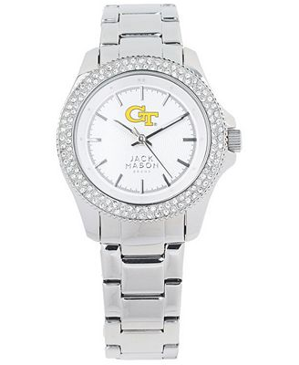 Jack Mason Women's Georgia-Tech Glitz Sport Bracelet Watch