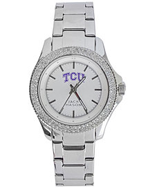 Jack Mason Women's Texas Christian Horned Frogs Glitz Sport Bracelet Watch