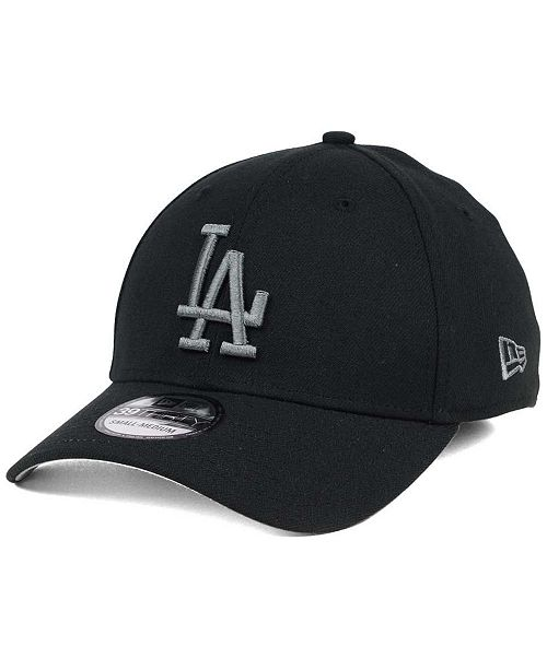 meet 62759 2cf93 ... New Era Los Angeles Dodgers Black and Charcoal Classic 39THIRTY Cap ...