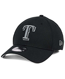 New Era Texas Rangers Black and Charcoal Classic 39THIRTY Cap