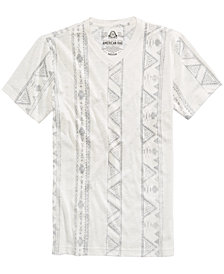 American Rag Men's V-Neck Geometric Striped T-Shirt, Created for Macy's