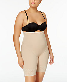 Maidenform Women's  Firm Foundations Curvy Plus Size Firm Control High Waist Thigh Slimmer DM1024