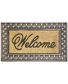 "Bacova Welcome 18"" x 30"" Basketweave Doormat"
