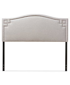 Aubrey Fabric Upholstered King Size Headboard, Quick Ship