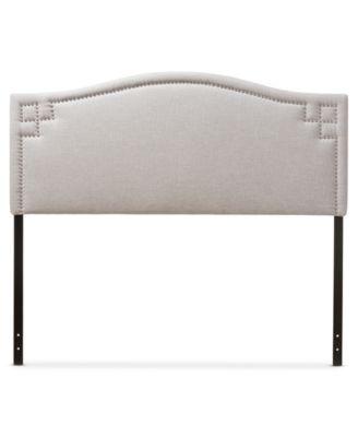 aubrey fabric upholstered king size headboard quick ship