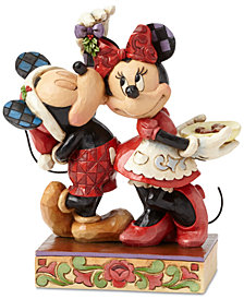 Jim Shore Mickey and Minnie Mistletoe Figurine