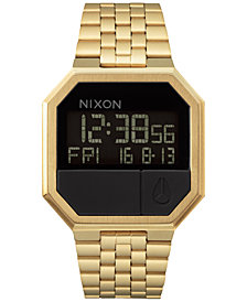 Nixon Men's Re-Run Digital Stainless Steel Bracelet Watch 39mm A158
