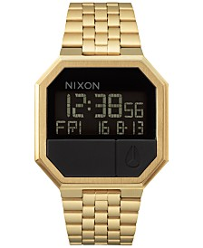 Nixon Men's Re-Run Digital Stainless Steel Bracelet Watch 39mm
