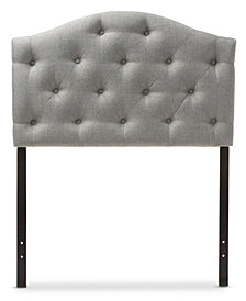 Myra Faux Leather Upholstered Twin Headboard, Quick Ship