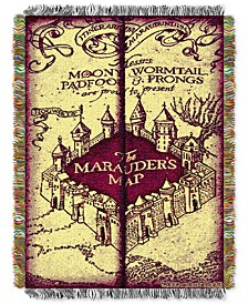 Harry Potter Marauders Map Triple Woven Tapestry Throw